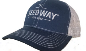 Seedway branded mesh trucker hat navy blue