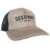 Seedway branded mesh trucker hat in light tan